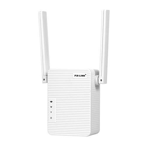 Festnight Repetidor WiFi/Amplificador de señal de Punto de Acceso Extensor de Rango inalámbrico Ap 300Mbps con Antenas duales para Oficina en casa Enchufe de la UE