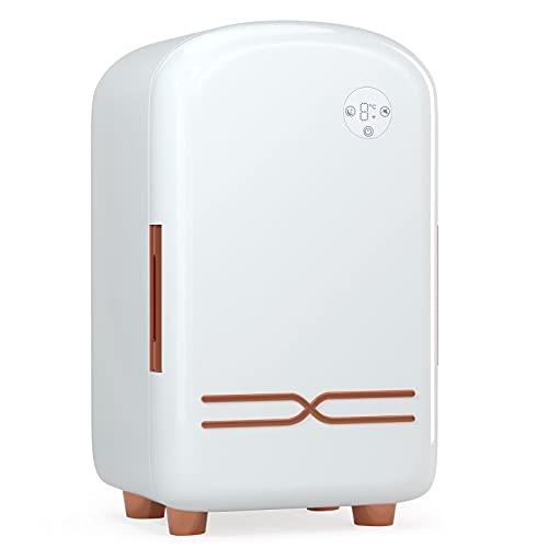 Mini Frigoríficos 12L, Kacsoo Mini Frigo para cosméticos con 5 compartimentos de almacenamiento, Ruido Bajo, Aplicar Para Dormitorio, uena Opción Para el Cuidado De La Piel y Los Cosméticos