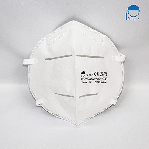 10 STK. Hochwertige FFP2 NR Atemschutzmasken in hygienischer luftdichter Einzelverpackung, mit CE0194 von notifizierter Stelle INSPEC