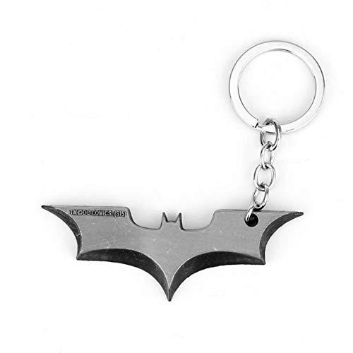 Wonderful Day 30 Styles Batman Bat Porte-clés Film Bijoux créatifs bibelot Porte-clés Pendentif en métal Porte-clés Sacs Porte-clés de Voiture, 012 Argent