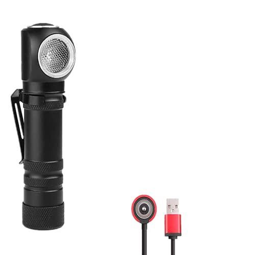XHP50 Linterna LED y Linterna Frontal Recargable 2 en 1,LUXNOVAQ 6000 Lumen Mini Linternas Potentes EDC Flashlight Linterna Tactica Impermeable con Cable USB Magnético y Batería para Acampada Trabajo