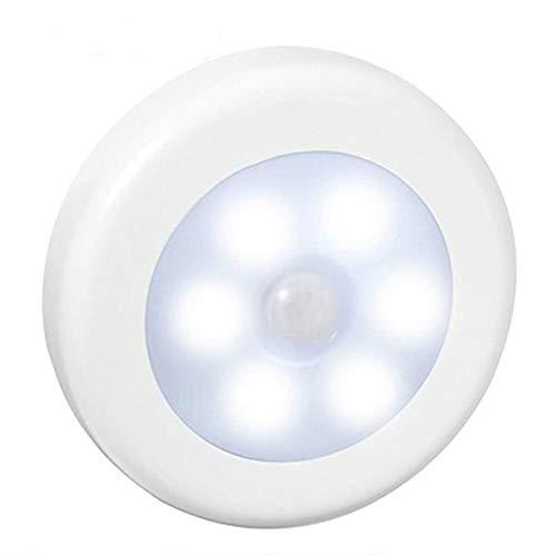Infrared PIR Motion Sensor 6 LED Night Light Wireless Detector Light Wall Lamp Auto On/Off Closet sensor light - White,White