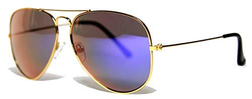 Fiko Aviator - Gafas de sol para hombre polarizadas, unisex, UV400, Top Gun, Tom Cruise, años 70 (violeta)