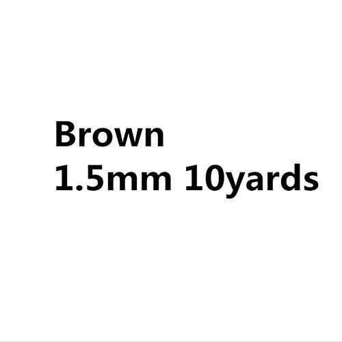 NOLOGO HHTC 0,5 mm 0,8 mm 1,5 mm 1 mm 2 mm algodón Encerado Cuerda Cuerda del Hilo Encerado Cable Correa Hilo Collar Cuerda for la joyería (Color : Brown 1.5mm)