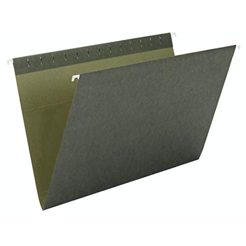 Smead Hanging File Folder, No Tabs, Letter Size, Standard Green, 25 per Box (64010)