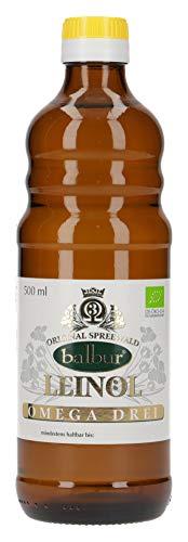 Balbur-Leinöl (Bio) aus dem Spreewald, kaltgepresst (500 ml, DE-ÖKO-034)