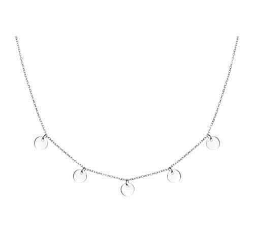 SOFIA MILANI Damen Halskette Plättchen Kreise Silber 50149