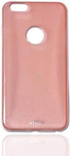حافظة حماية مزدوجة الطبقات TPU لهاتف ابل ايفون 6 بلس / 6 بلس S بلون احمر شفاف