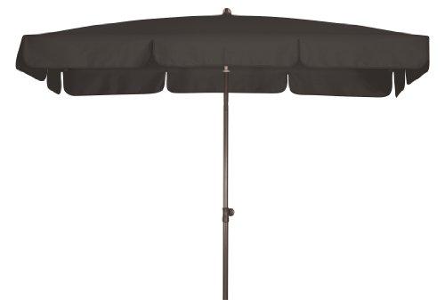 Doppler Absolut wasserdichter Gartenschirm Waterproof 185x120 UV-Schutz 80, Farbe anthrazit