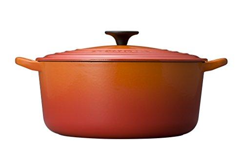 Le Creuset Signature Flame Enameled Cast Iron Round French Oven, 7.25 Quart