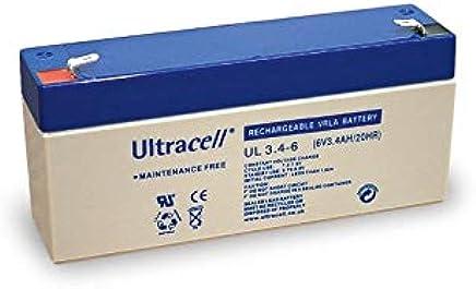 Akku kompatibel EBC6-3.2 6V 3,4Ah wie 3,2Ah AGM Blei Batterie wiederaufladbar
