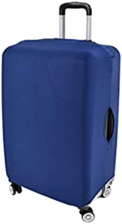 Clöudz TSA Approved Small Luggage Protector Cover Against Dust Dirt & Scratch -Stretchy & Sturdy Fits up to 21'' Carry-on Suitcases Easy Put on Off Hook & Loop Closure – Blue