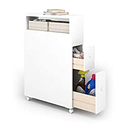 narrow floor cabinet on wheels spacesaver