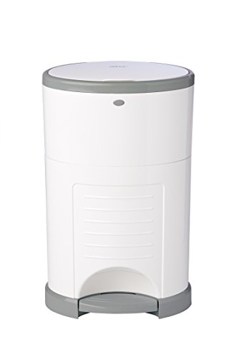 Dekor Classic Hands-Free Diaper Pail | White | Easiest to Use | Just Step - Drop - Done | Doesn't Absorb Odors | 20 Second Bag Change | Most Economical Refill System