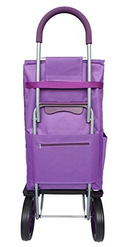 Bo Time BTBC-SP-09P-L Einkaufstrolley, 2 Räder, mit Tasche vorne, isoliert, 5 l, großes Fassungsvermögen, 63 l, mehrfarbig