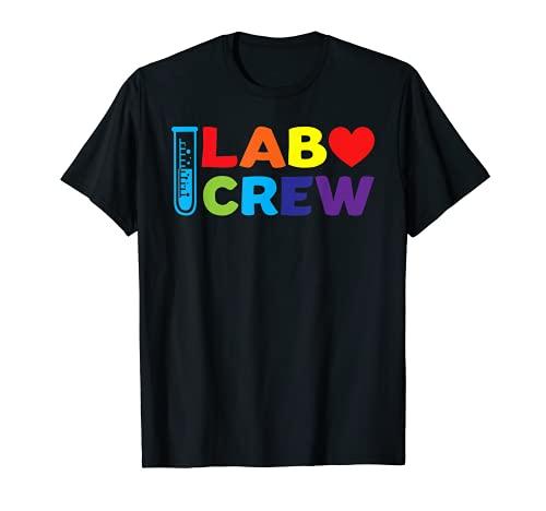 Equipo de laboratorio de la tripulación de laboratorio Camiseta