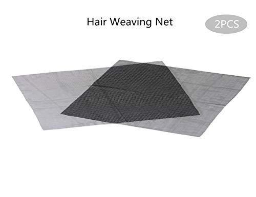 WEIMOB Morceau Filet Tissage 70x40cm Cap de Perruque Chapeau Extension de Cheveux Stretchy Nylon Bonnet Wig Cap