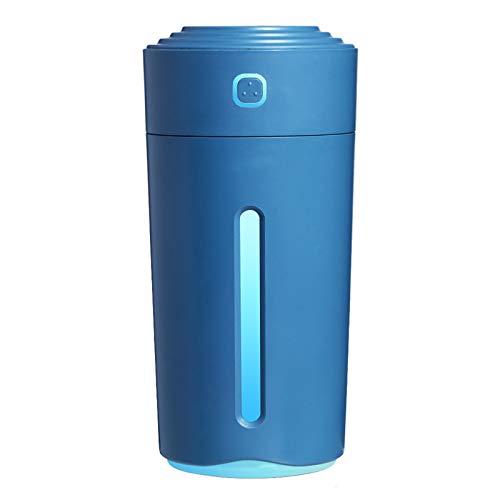 SDCNDAND Mini humidificador de automóviles USB, Luces de Colores portátiles de ión Negativo del columnar, Spray de purificación de Aire, para Dormitorio en el hogar Junto a la Cama,Dark Blue