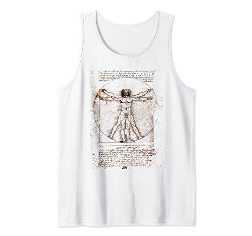Leonardo da Vinci El hombre de Vitruvio Camiseta sin Mangas