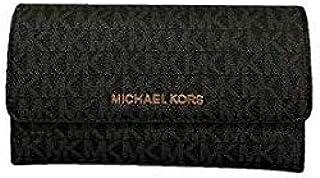 Michael Kors Women's Jet Set Travel LG Trifold Wallet, Leather - Black