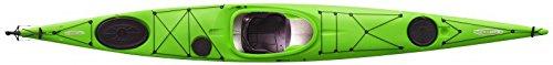 Tahe Marine Reval Midi PE Kajak mit Skeg/Steuer Tourenkajak Seekajak preiswert, Farbe:Gelb, Ausstattung:Deluxe Seat