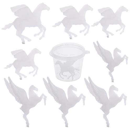 SUNNYCLUE 8Pcs 3D Pegasus Resin Fillers Plastic Resin Moulds Filler Mini Horse Model DIY Crafts Jewelry Making Supplies