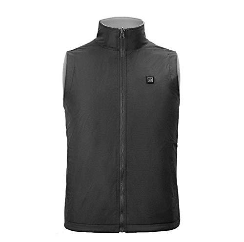 AISHANG Waschbare Wärme-Thermo-Jacke, USB-Heizweste für Männer und Frauen, elektrische Heizjacke, waschbare, warme Winterweste-Jacke-schwarz_4XL