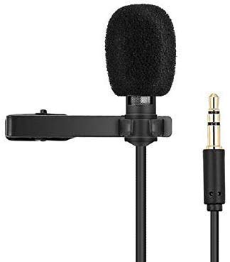 Venganza Lapel Coller Microphone Voice Recording Filter Mic for Recording Singing Youtube on Smartphones (Black)