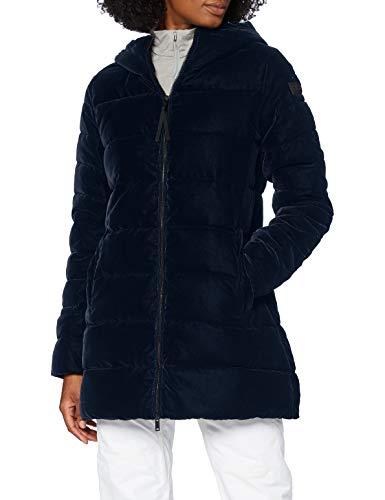 CMP Parka de terciopelo con relleno Feel Warm Flock - Chaqueta para mujer, Mujer, Chaqueta, 30K3646, negro y azul, 44