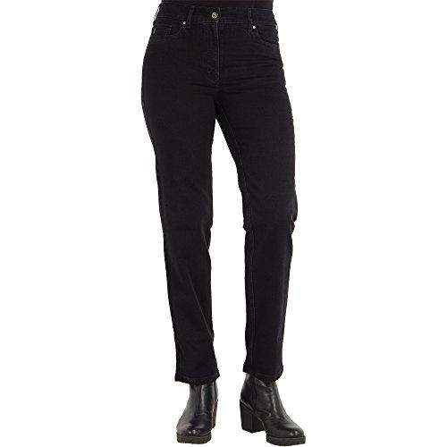 Zerres Damen Jeans Greta Straight Fit Comfort N Stretch, Größe:42;Farbe:09 Black