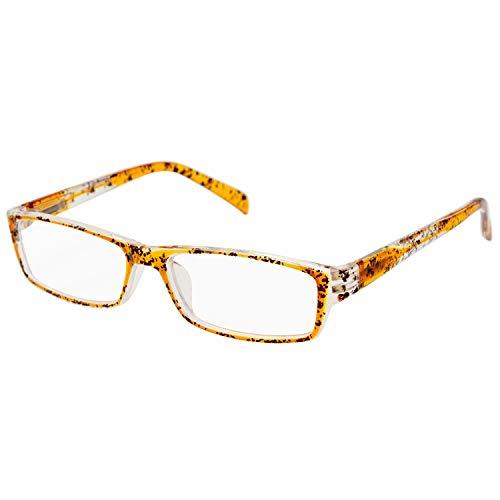 エール 老眼鏡 3.0 度数 プラスチックフレーム バネ蝶番 デミ柄 AP120S