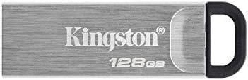 Kingston DataTraveler Kyson 128GB USB 3 2 Metal Flash Drive DTKN 128GB product image