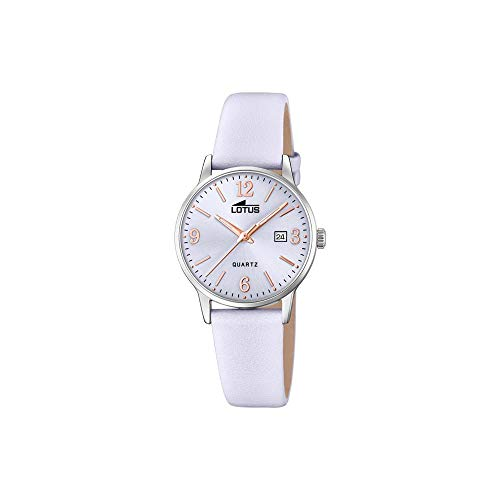 Lotus Damen Analog Quarz Uhr mit Leder Armband 18699/3
