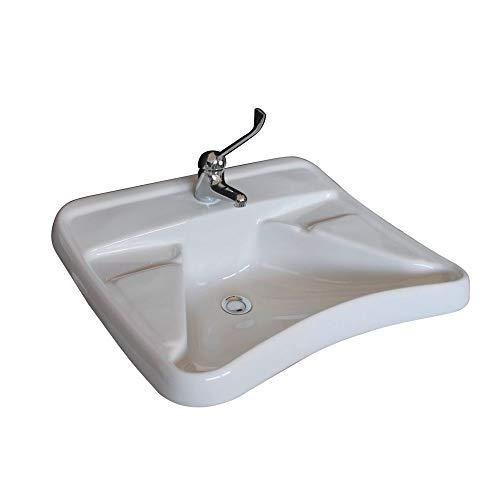 CIVITA CROMO Lavabo ergonómico Blanco para discapacitados Art. hh100lab
