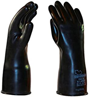 Size 8.5 8 Port Guardian Manufacturing 30 mil Thickness L//R Guardian 13008 Manufacturing Butyl Glovebox Glove 8 Port