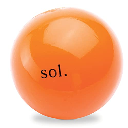 Planet Dog Orbee-Tuff Sol - Pelota con dispensador de recompensas para perros - Naranja