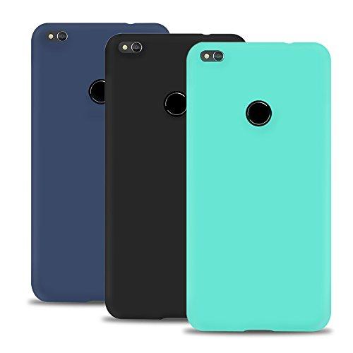 Caselover 3X Funda Huawei P8 Lite 2017, Suave TPU Silicona Carcasa para Huawei P8 Lite 2017 (5.2 Pulgadas) Ultra Delgado Flexible Goma Mate Opaco Protectiva Caso Case Cover Bumper - 3 Color