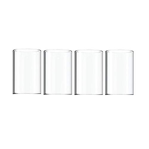 NO LOGO, 4PCS Glasrohr Ersatz Pyrex-Glasschlauch-Behälter gepasst for Joyetech EGO AIO ECO Kit Atomizer (Frei von Tabak und Nikotin) (Farbe : 4pcs Glass Tube)