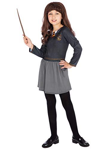 HARRY POTTER Disfraz Vestido para Niñas Hermione Negro 5-6 Años