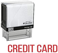 Credit Card Invoice Printer Office Self Inking Rubber Stamp - Red Ink (C-10025)