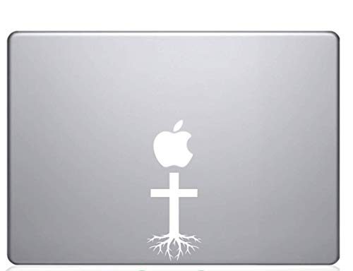 Custom Decal Car for Jesus Cross Roots for Car, Truck, Jeep, Funny, Window, Motorcycle, Helmet, Bumper, Decal for Laptop, Phone, Home Decoration / 5.5 in x 3 in / White