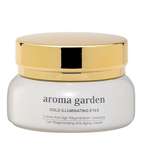 24K Gold anti-aging Augencreme - Sofortiger Lifting-Effekt dank Vitamin C & Hyaluronsäure - Wirkt gegen Augenringe dank Aloe Vera, Jojoba-ÖL. Bio & Vegan - Für alle Hautzustände 30ml