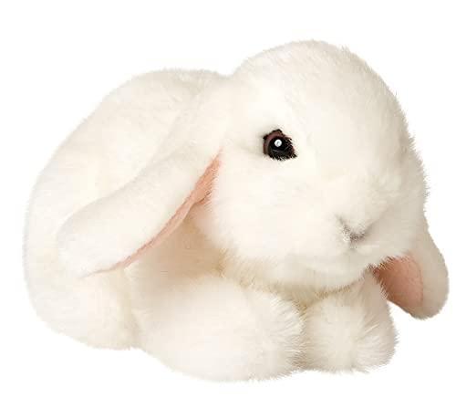 Uni-Toys - Widderkaninchen weiß, liegend - 18 cm (Länge) - Hase, Waldtier - Plüschtier, Kuscheltier HW-79026