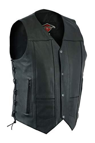 Texpeed - Motorradweste aus Anilin-Rindsleder - Schwarz - Größen M