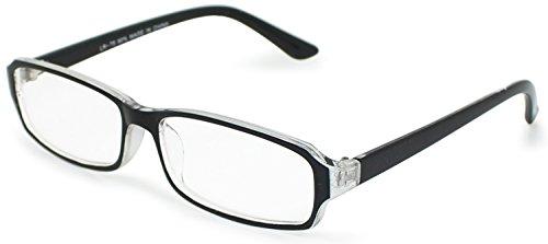 デューク 老眼鏡 メンズ +3.5 度数 プラスチックフレーム ソフトケース付き ブラック LR-75-1+3.50