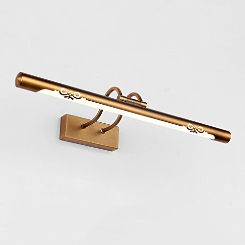 Spiegel-Licht-LED, Anti-Nebel-Bad-Spiegel-Scheinwerfer, Retro-Spiegel-Kabinett-Licht, Acryl Wash-Wandleuchte, Badezimmer-Wsche-Licht, L57cm (Bronze)
