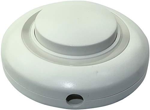 AERZETIX - Interruptor de Pie Redondo 10A - Diámetro 70mm - Botón...