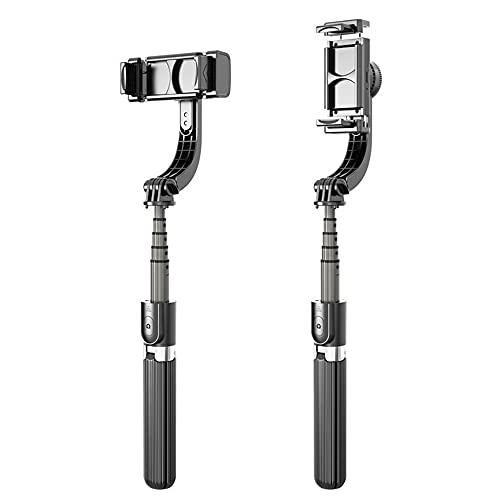 IYUNDUN Bluetooth Selfie Stick, Trípode De Teléfono Extensible De Mano con Estabilizador Antivibración De Cardán De Un Solo Eje para iPhone 12/11 Pro/XS MAX/XS/XR/X / 8/7/6, Samsung Galaxy/Note