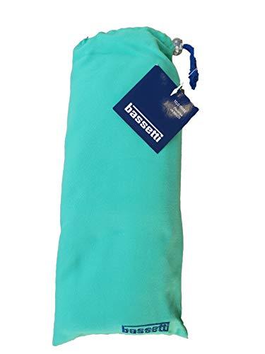Bassetti Telo Mare Piscina Microfibra cm 90 x 170 Colorato Ideale da Viaggio o Sport in Comoda Sacca (Verde V1)