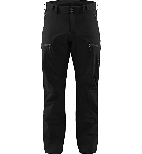 Haglöfs Softshellhose Herren Softshellhose Breccia Wasserabweisend, Elastisch True Black/Magnetite XL XL